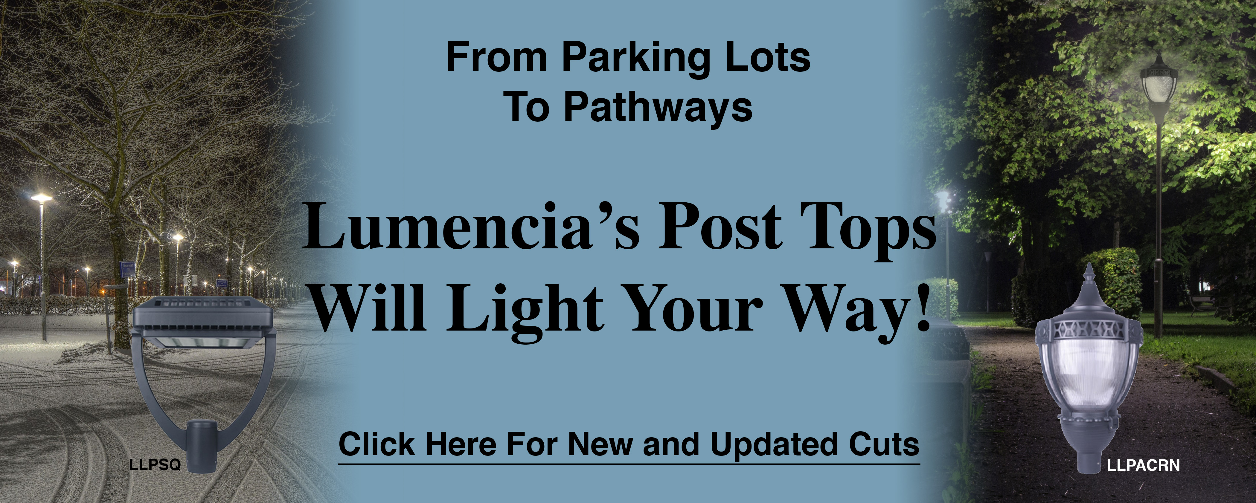 Lumencia's Post Tops Will Light Your Way!